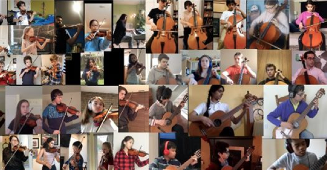 Some of our SuzukiMusic kids performing together while we're apart.